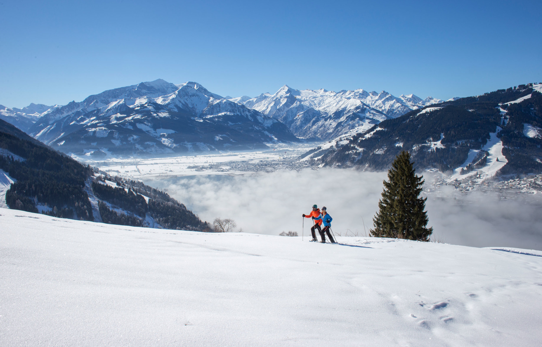 Cross-country skiing in Kaprun